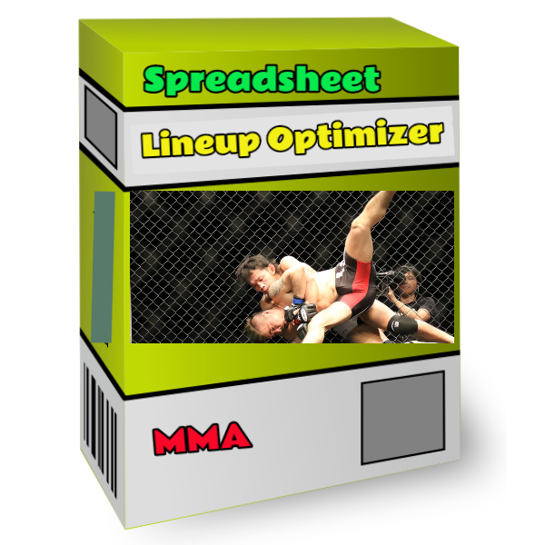 MMA lineup optimizer spreadsheet