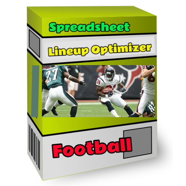 nfl football spreadsheet lineup optimizer tool