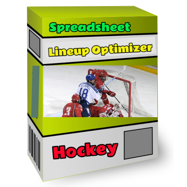 hockey spreadsheet lineup optimizer tool