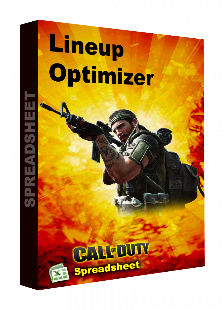 CALL OF DUTY spreadsheet lineup optimizer
