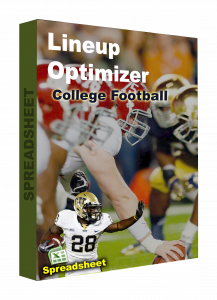 COLLEGE FOOTBALL spreadsheet lineup optimizer