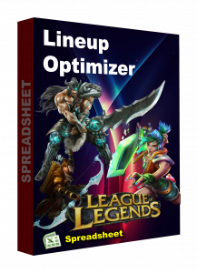 LEAGUE OF LEGENEDS Spreadsheet lineup optimizer