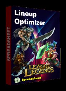 LEAGUE OF LEGENEDS Spreadsheet lineup optimizer