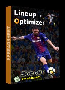 Soccer spreadsheet lineup optimizer